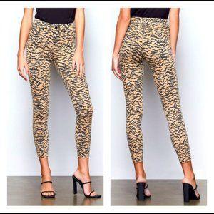 NWT  Good American High Waisted Zebra Print Jeans
